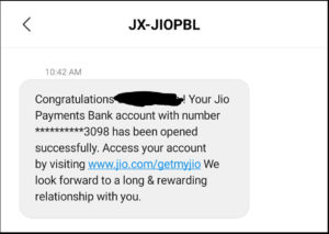 Jio Payment Bank Account Number