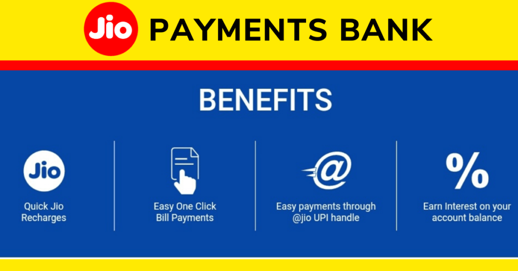 Jio Payment Bank Benefits