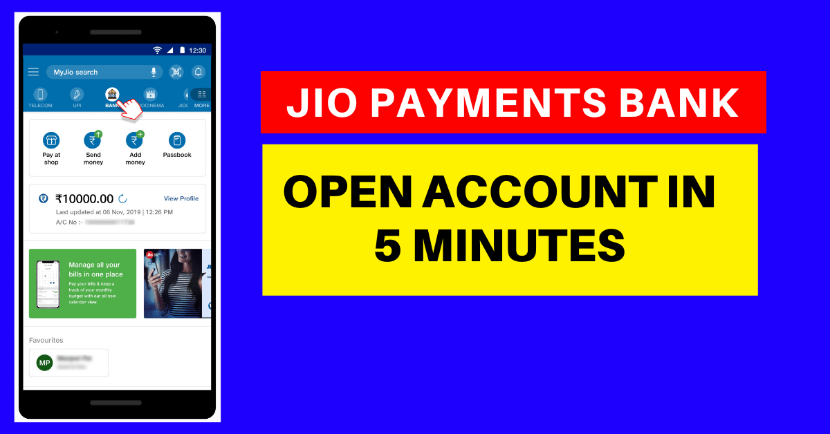 Open Jio Payments Bank Account